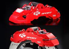 Přední brzdový kit K-Sport pro Infiniti G35 4dv., r.v. od 03 do 06, 8pístkové brzdiče, velikost kotoučů: plovoucí 400X36 mm