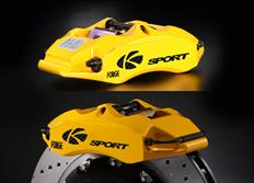 Zadní brzdový kit K-Sport pro Chevrolet Corvette C6 (Z51), r.v. od 05 do 13, 4pístkové brzdiče, velikost kotoučů: 356X32mm