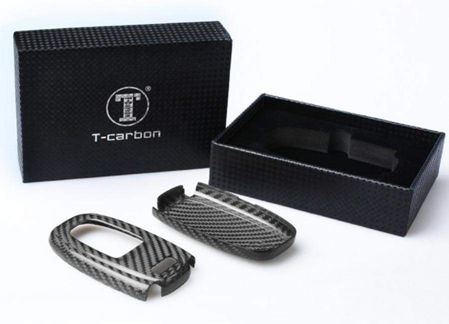 Karbonové pouzdro na klíč pro Audi A4/A5/A6/A7/S5 a podobné, barva černá
