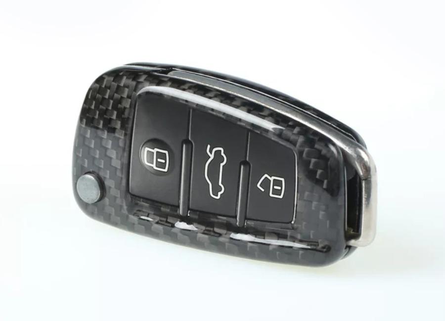 Karbonové pouzdro na klíč pro Audi, barva černá