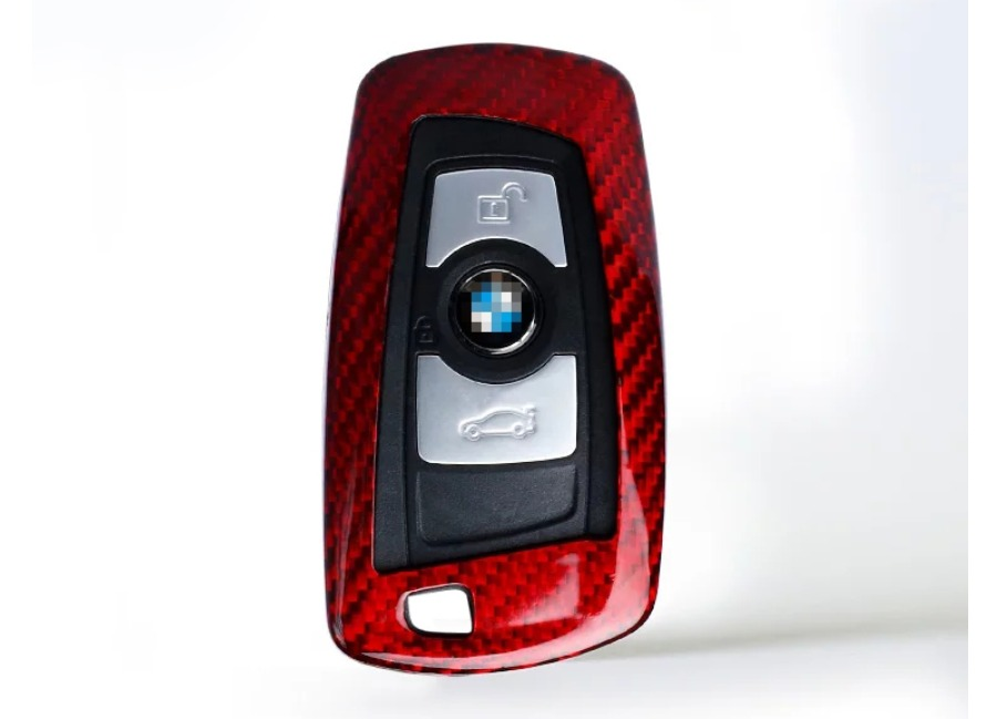 Karbonové pouzdro na klíč pro BMW 1-6 SERIES, barva červená