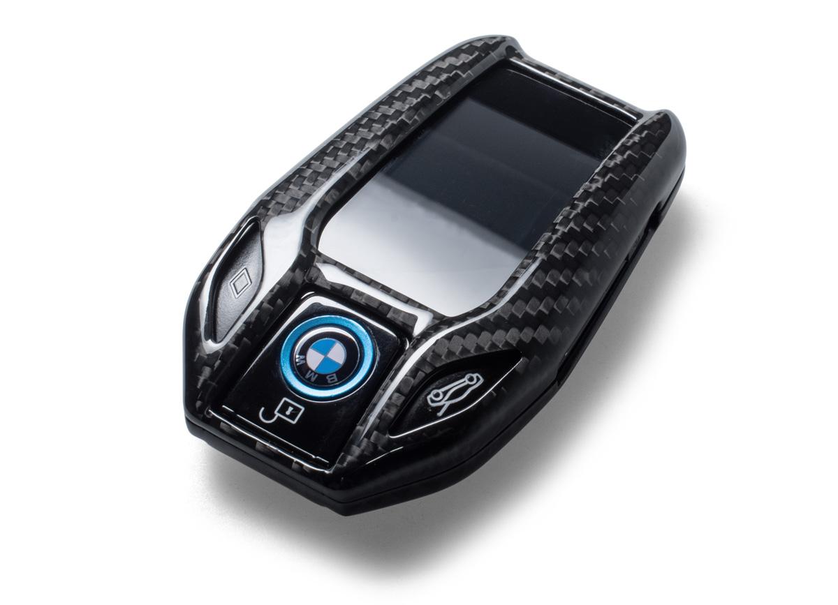 Karbonové pouzdro na klíč pro BMW s LCD displejem
