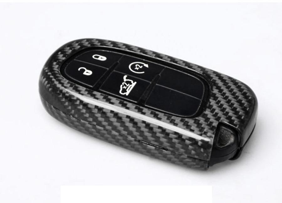 Karbonové pouzdro na klíč pro Dodge/Jeep a podobné, barva černá