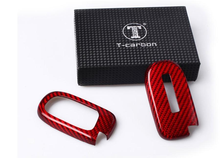 Karbonové pouzdro na klíč pro Dodge/Jeep a podobné, barva červená