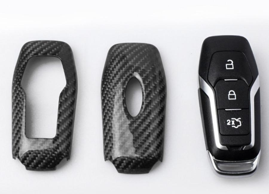 Karbonové pouzdro na klíč pro Ford Mustang a podobné, barva černá