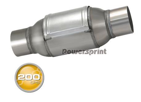 Powersprint sportovní katalyzátor CPSI 200, kulatý, vnitřní průměr příruby 76 mm