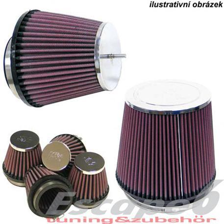 Univerzální vzduchový filtr K&N, tvar kónus, průměr příruby 76mm, průměr filtru na začátku/na konci 114/127mm, délka 165 mm
