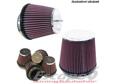 Univerzální vzduchový filtr K&N, tvar kónus, průměr příruby 49mm, průměr filtru na začátku/na konci 51/76mm, délka 76 mm