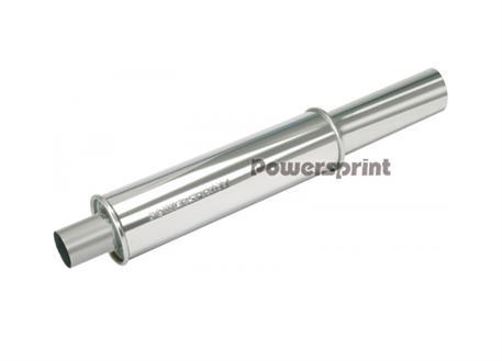 Powersprint koncový výfukový tlumič kulatý s koncovkou 89mm, vnitřní průměr příruby 65 mm, celková délka 800 mm
