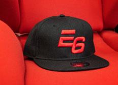 Kšiltovka Escape6 černá s plastickým červeným 3D logem E6
