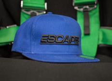 Kšiltovka Escape6 modro-černá s plastickým 3D logem Escape6