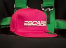 Kšiltovka Escape6 růžová s plastickým 3D logem Escape6