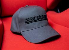Kšiltovka se zahnutým kšiltem Escape6 šedá s plastickým černým 3D logem E6