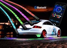 Moderní Bluetooth Flexibilní LED neony Multicolor - dálkově ovládané aplikací z telefonu