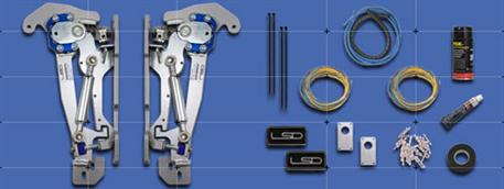 Systém vertikálního otevírání dveří LSD pro vůz BMW řady 1 (E81) rok výroby 09/04- ve 3-dvéřovém provedení
