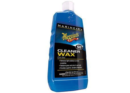 Meguiar's One Step Boat/RV Cleaner Wax Liquid - tekutá leštěnka s voskem, 473 ml