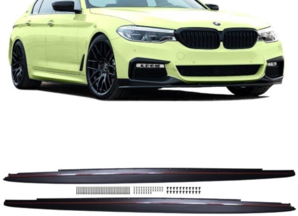 Maxton Design difuzory pod boční prahy Sport Performance pro BMW Řada 5 G30-G31, plast ABS bez povrchové úpravy