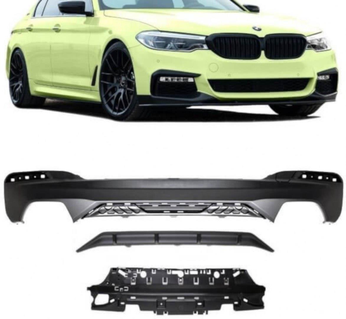 Maxton Design vložka zadního nárazníku Sport Performance pro BMW Řada 5 G30-G31, plast ABS bez povrchové úpravy