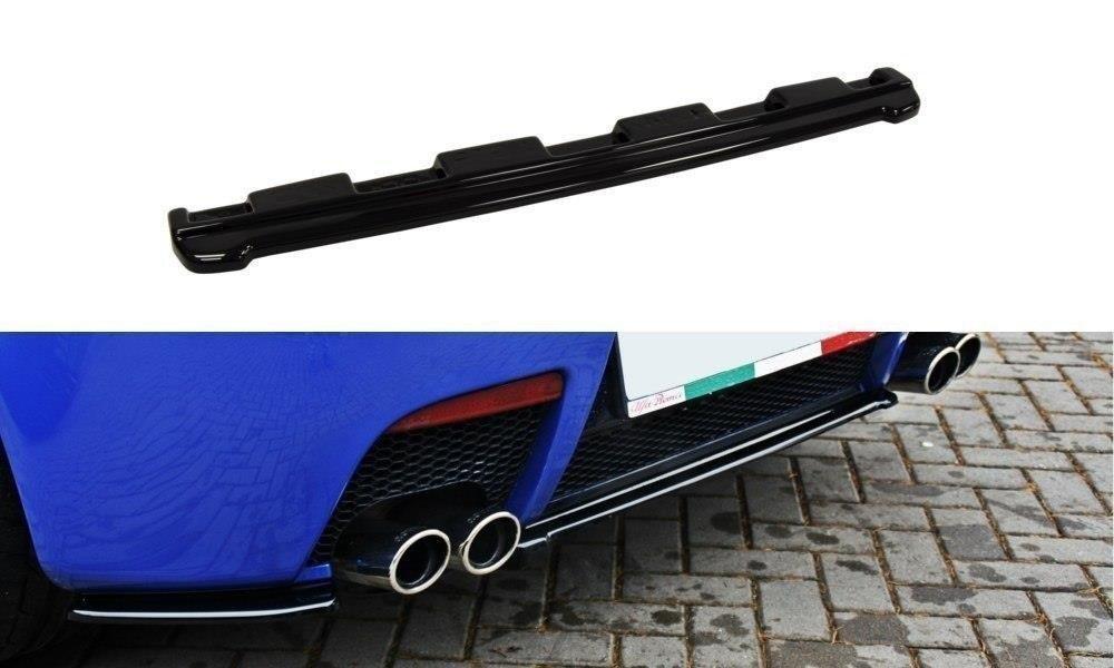 Maxton Design středový spoiler zadního nárazníku bez žebrování pro Alfa Romeo 147, černý lesklý plast ABS
