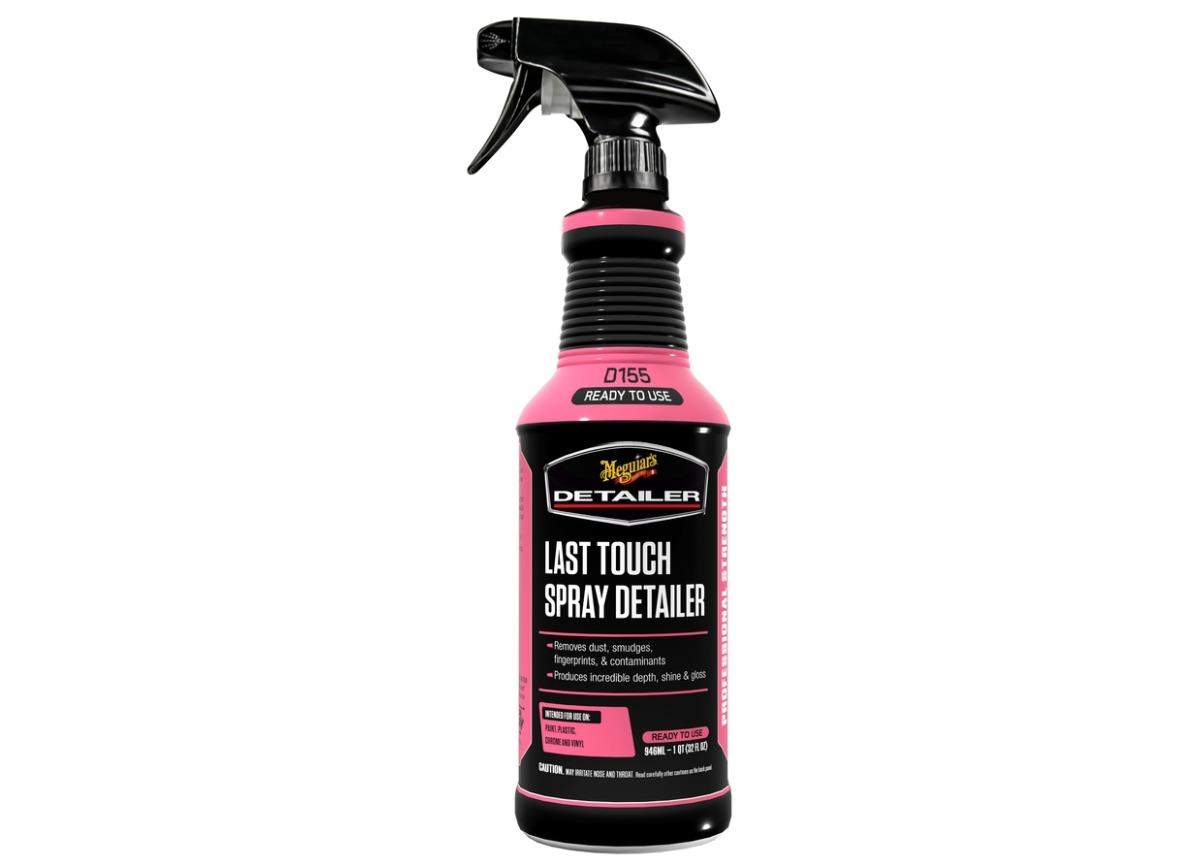 Meguiar's Last Touch Spray Detailer - detailer pro odstranění lehkých nečistot, lubrikaci laku a posílení lesku, 946 ml