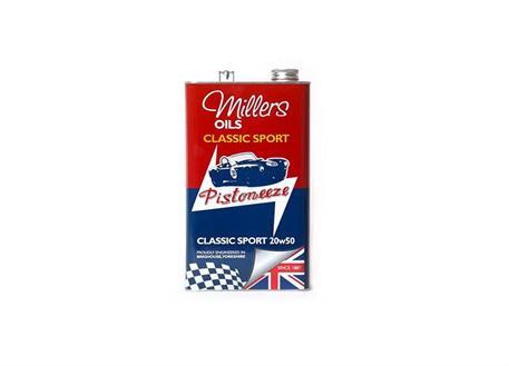 Špičkový minerální olej Millers Oils Classic 20w-50 1l pro auto a moto veterány
