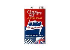 Špičkový minerální olej Millers Oils Classic 20w-50 5l pro auto a moto veterány