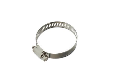 Nerezová spona na tlakové hadice o vnějším průměru 48-54mm, vhodná pro hadici s vnitřním průměrem 42 a 45 mm