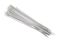Nerezová stahovací páska na termo izolační pásky, šířka 4,5 mm, délka 370 mm