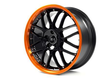 Alu kolo RH NF Crossline, 10x22 5x112 ET40, černé s oranžovým límcem