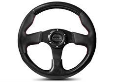 NRG sportovní volant Carbon Fiber s průměrem 315 mm, v kombinaci karbon / kůže, s dvěma barvami prošívání