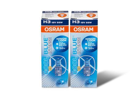 Žárovky Osram Cool Blue Intense H3 - studená bílá barva světla