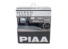 Autožárovky PIAA Hyper Arros 3900K H3 - o 120 % vyšší svítivost, zvýšený jas