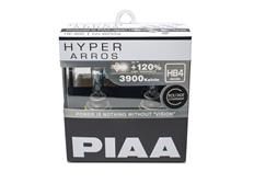 Autožárovky PIAA Hyper Arros 3900K HB4 - o 120 procent vyšší svítivost, zvýšený jas