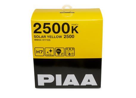 Autožárovky PIAA Solar Yellow 2500K H7 - žluté světlo do extrémních podmínek