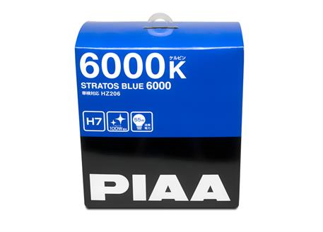 Autožárovky PIAA Stratos Blue 6000K H7 - studené bílé světlo s xenonovým efektem