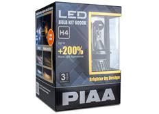 PIAA LED náhrady autožárovek H4 6000K - dokonale bílé světlo, až o 200% vyšší svítivost