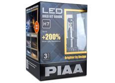 PIAA LED náhrady autožárovek H7 6000K - dokonale bílé světlo, až o 200% vyšší svítivost