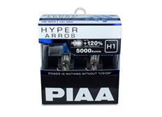 Autožárovky PIAA Hyper Arros 5000K H1 - o 120 % vyšší svítivost, jasně bílé světlo o teplotě 5000K