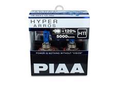 Autožárovky PIAA Hyper Arros 5000K H11 - o 120 % vyšší svítivost, jasně bílé světlo o teplotě 5000K