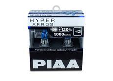 Autožárovky PIAA Hyper Arros 5000K H3 - o 120 % vyšší svítivost, jasně bílé světlo o teplotě 5000K