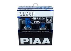 Autožárovky PIAA Hyper Arros 5000K H4 - o 120 % vyšší svítivost, jasně bílé světlo o teplotě 5000K