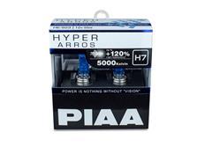 Autožárovky PIAA Hyper Arros 5000K H7 - o 120 % vyšší svítivost, jasně bílé světlo o teplotě 5000K