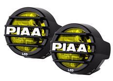 Přídavné dálkové kulaté LED světlomety PIAA LP530 Ion Yellow o průměru 89mm se žlutým světlem, bez homologace