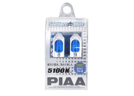 PIAA žárovky Southern White T10, bílé světlo 5100K, cena za pár (2 kusy)