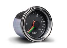Autogauge přídavný ukazatel tlaku vzduchu dvouručičkový černý 52mm