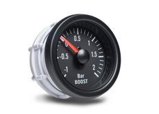 Autogauge palubní přístroj - tlak turba s černým podkladem