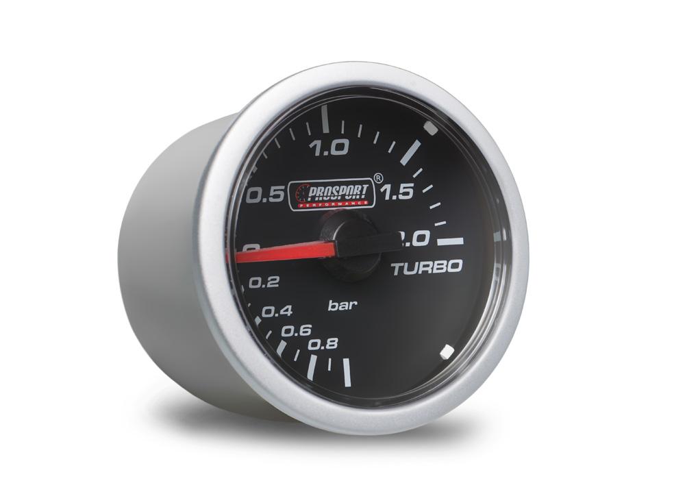 PROSPORT Clear Lens přídavný ukazatel tlaku turba mechanický -1 až 2bar s čirým překrytím