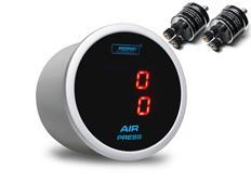 PROSPORT duální digitální ukazatel tlaku vzduchu s červeným podsvícením (velká čidla)