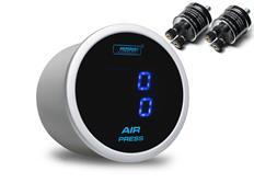 PROSPORT duální digitální ukazatel tlaku vzduchu s modrým podsvícením (velká čidla)