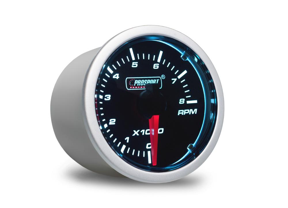 PROSPORT Smoke Lens otáčkoměr 0-8000ot. s kouřovým překrytím